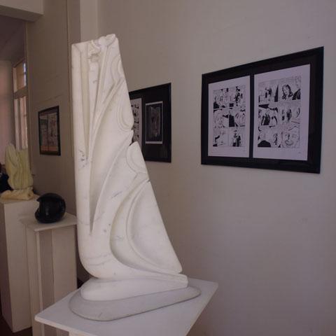 la scultura e i fumetti