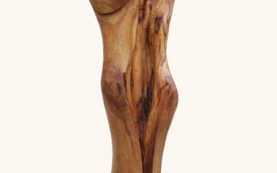 Una nuova scultura in legno di ulivo